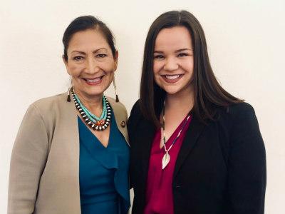 Congresswoman Deb Haaland and Julie Combs